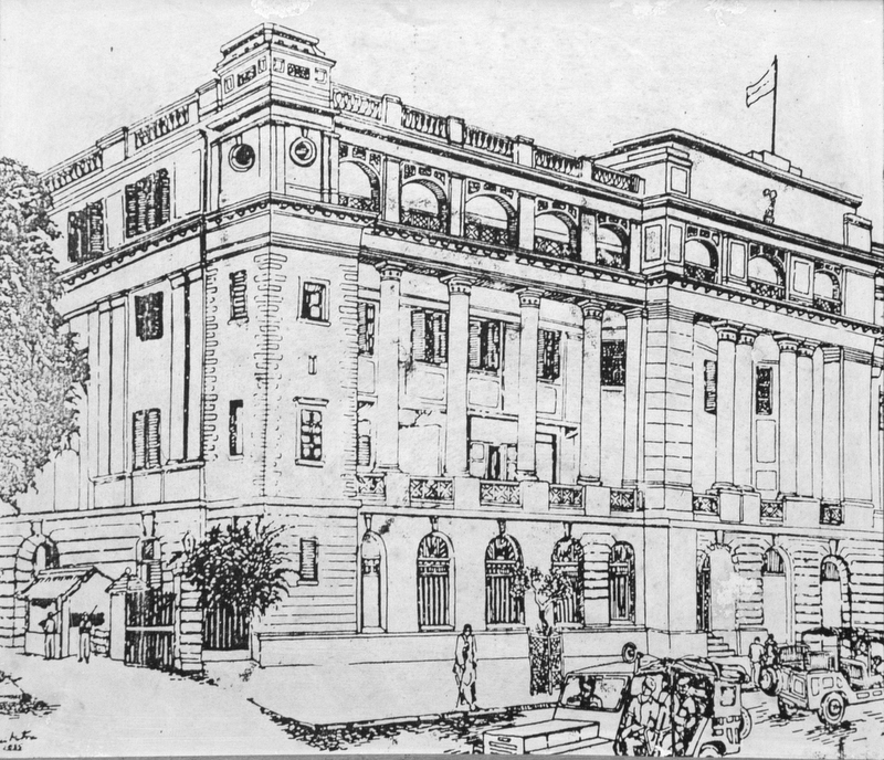 Sketch of Police Headquarters at Lal Bazar